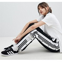 Adidas Originals Stylish Women Loose Personality Tear-Away Track Pant I