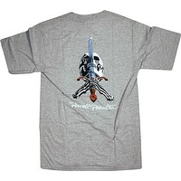 Powell Peralta Skull & Sword Tee Medium Grey