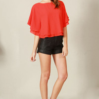 ROUGE PONCHO TOP