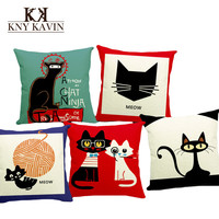 New 2015 European Home Decorative Cushion Cover Lovely Cats Style Car Home Decor Throw Pillows Funda Cojines Decor Cushion HH511
