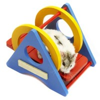 Alfie Pet Small Animal Playground - Karo Colorful Wooden Swing (Toy for Mouse and Dwarf Hamster)