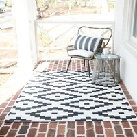 Mateer Cream Indoor/Outdoor Area Rug