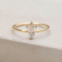 Baguette Crown Ring - Gold