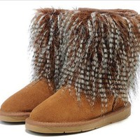 DHL Women's UGG snow boots warm cotton shoes _1686248855-134