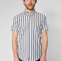 Stripe Chambray Short SleeveButton-Down with Pocket