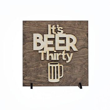 Beer Signs - Man Cave Wood Decor - Gifts for Him - Gifts for Men - Stocking Stuffers - Gifts Under 15 - Wooden Bar Signs - Foodie Gifts