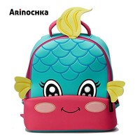 Lovely Little Kids Mermaid School Bag Zoo Animal Backpack Cartoon Unicorn Toddler Small Baby Bag Beautiful Butterfly for Girls