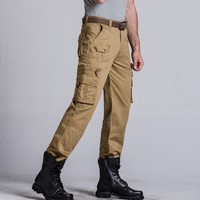 Outdoor men casual pants pocket hunting pants Cargo Pants Sports military mens overalls male pantalon hombre outdoor