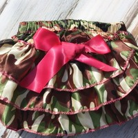 Ruffled Camo Bloomer | From Bows To Toes