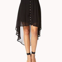 Party-Perfect Button Skirt