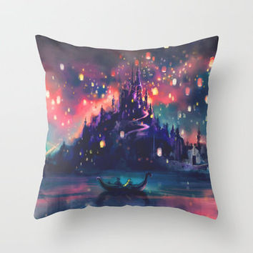 The Lights Throw Pillow by Alice X. Zhang   Society6