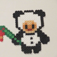 League of Legends Inspired Panda Teemo Bead Sprite Magnet, Ornament, or Wall Decor