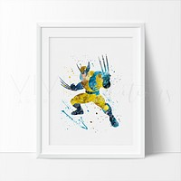 Wolverine Watercolor Art Print