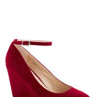 A Wink of Whimsical Wedge in Red | Mod Retro Vintage Heels | ModCloth.com
