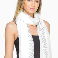 ShopSosie Style : Aztec Ruana Scarf in Turquoise