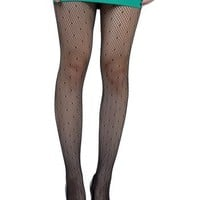 Soho Apparel Junior Ladies Sheer Patterned Pantyhose SS-PHA-black