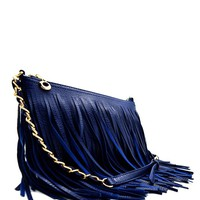 Boho Fringe Chain Purse (NEW COLORS)