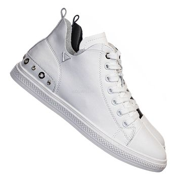 Constant5 Leather Rhinestone Fashion Sneakers - Womens Casual High Top Shoes