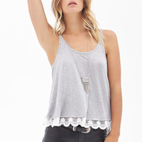 Embroidered Flare Tank
