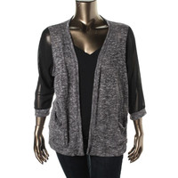 American Rag Womens Plus Knit Open Front Cardigan Top