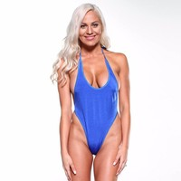 Monokini G-String - Electric Blue