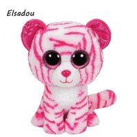Elsadou Ty Beanie Boos Stuffed & Plush Animals Pink Leopard Toy Doll