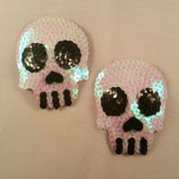 Skull Shaped Halloween Nipple Pasties.