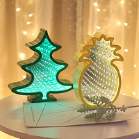 Led Mirror Tunnel Lights Modeling Lights Room Christmas Creative Decoration Night Light