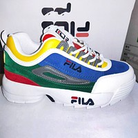 FILA 2020 new old shoes destroyer 2 generation blade running shoes sports shoes colroful blue green yellow