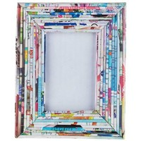 """3"""" x 4 1/2"""" Colorful Rolled Paper Photo Frame 