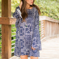 Kaleidoscope Of Shapes Dress, Blue