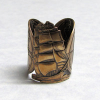 Around the World Boat Ring by ranaway on Etsy