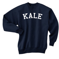 Kale Pullover Sweatshirt KALE 7/11 Video Pullover Crewneck Sweater Jumper Yale Eat More Kale Beyonce