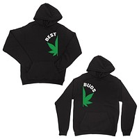 Best Buds Marijuana Black Matching Couple Hoodies For Wedding Gift