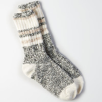 AEO Stripes Crew Socks, Red
