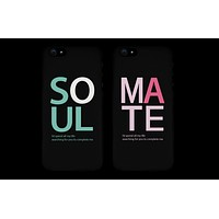 Soul Mate Black Matching Couple Phone Cases Valentine's Day Gifts