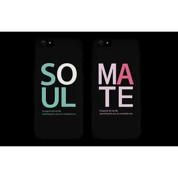 Soulmate Matching Couple Black Phonecases (Set)