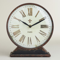Black Taylor Tabletop Clock - World Market