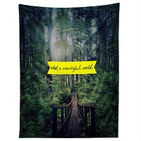 Leah Flores What A Wonderful World Tapestry
