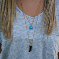You Really Got Me Necklace: Turquoise