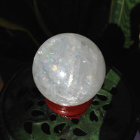 Natural Rainbow Quartz Crystal sphere ball