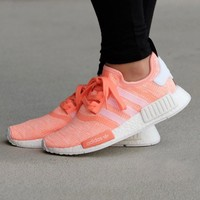Best Online Sale Adidas WMNS NMD R1 Sunglow/Footwear White Boost Sport Running Shoes Classic Casual Shoes Sneakers