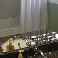 Great weight loss mirror decal funny bathroom wall art