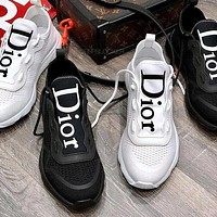 Dior CD fashion men's and women's mesh breathable casual sports shoes