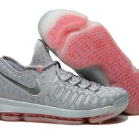 Nike KD 9 Grey Red Basketball Shoes