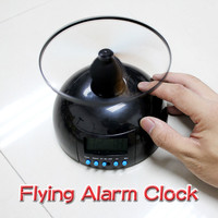 Creative Alarm Clock Toy With Clock Backlight Gift Flying Lazy Helicopter Shape Alarm Clocks