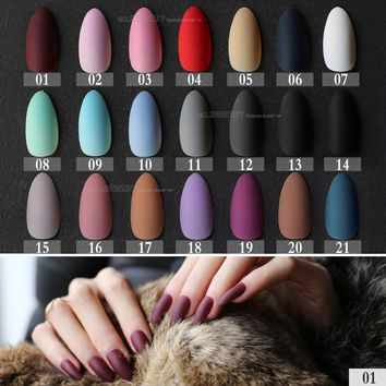 New Matte False Short Pointed Soft Pink Nude Red Black Blue fake stiletto nails full cover Pure colour candy Purple Khaki White