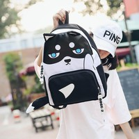 Free shipping husky backpack high quality unisex children mochilas school bag bolsas boy girls canvas zip creeper backpacks