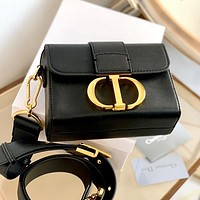 DIOR Trending Women Shopping Bag Leather Shoulder Bag Crossbody Satchel Black