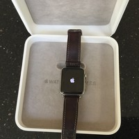Apple Watch Series 2 Hermès 42mm Stainless Steel Case with Fauve Barenia Single